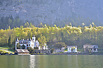 Castle on Halstatt lake, Austria. Hitler Youth camp in WW2.  Hallstatt, Austria