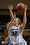 GRAND RAPIDS, MI - MARCH 18: Jackie Nagle (32) of Amherst College goes in for the basket during the Division III Women's Basketball Championship held at Van Noord Arena on March 18, 2017 in Grand Rapids, Michigan. Amherst College defeated Tufts University 52-29 for the national title. (Photo by Brady Kenniston/NCAA Photos via Getty Images)