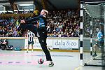 Stockholm 2013-10-16 Handboll Elitserien Hammarby IF - LUGI :  <br /> Hammarby m&aring;lvakt 1 Daniel Svensson r&auml;ddar ett skott<br /> (Foto: Kenta J&ouml;nsson) Nyckelord: