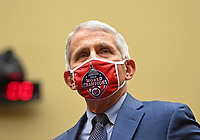Dr. Anthony Fauci, director of the National Institute for Allergy and Infectious Diseases, arrives to testify before the US House Subcommittee on the Coronavirus Crisis during a hearing on a national plan to contain the COVID-19 pandemic, on Capitol Hill in Washington, DC on Friday, July 31, 2020.  <br /> Credit: Kevin Dietsch / Pool via CNP /MediaPunch
