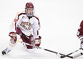 Kevin Hayes (BC - 12) - The Boston College Eagles defeated the University of Massachusetts-Amherst Minutemen 3-2 to take their Hockey East Quarterfinal matchup in two games on Saturday, March 10, 2012, at Kelley Rink in Conte Forum in Chestnut Hill, Massachusetts.