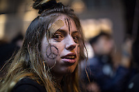 NY, NEW YORK NOVEMBER 09: Hundreds of protesters gather outside Trump Tower to express their disappointment for President-elect Donald Trump in New York November 9, 2016. Photo by VIEWpress/Maite H. Mateo.