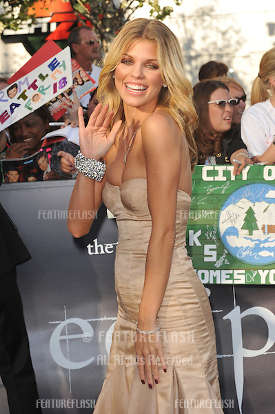 "AnnaLynne McCord at the premiere of ""The Twilight Saga: Eclipse"" at the Nokia Theatre at L.A. Live..June 24, 2010  Los Angeles, CA.Picture: Paul Smith / Featureflash"