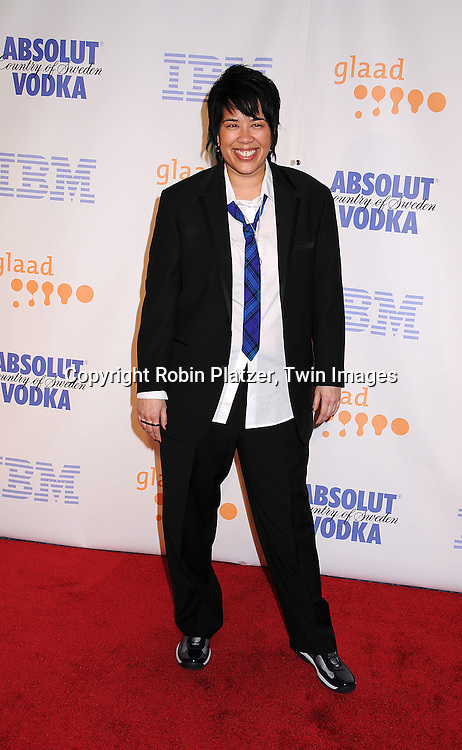 Josie Smith-Malave.posing for photographers at the 19th Annual GLAAD Media Awards on March 17, 2008 at The Marriott Marquis Hotel in New York City. .Robin Platzer, Twin Images