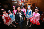 Ian Clark Parcon gets an dancing lesson from members of the Campbell Dance Academy in McPhails....Photo NEWSFILE/Jenny Matthews.(Photo credit should read Jenny Matthews/NEWSFILE)....This Picture has been sent you under the condtions enclosed by:.Newsfile Ltd..The Studio,.Millmount Abbey,.Drogheda,.Co Meath..Ireland..Tel: +353(0)41-9871240.Fax: +353(0)41-9871260.GSM: +353(0)86-2500958.email: pictures@newsfile.ie.www.newsfile.ie.FTP: 193.120.102.198.