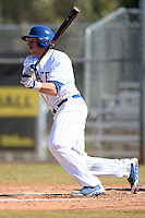 South Dakota State JackRabbits first baseman Aaron Machbitz (33) at bat during a game against the Georgetown Hoyas at South County Regional Park on March 9, 2014 in Port Charlotte, Florida.  Georgetown defeated South Dakota 7-4.  (Mike Janes/Four Seam Images)