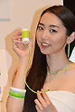 """May 7, 2013, Tokyo, Japan - Softbank unveils a new line products for the summer and autumn seasons during a launch in Tokyo on Tuesday, May 7, 2013. Model showed """"Itomaki for iPhone"""" at the rollout..(Photo by Koichi Mitsui/AFLO)"""