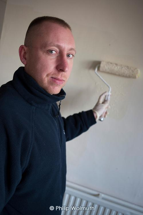 Damian Maciejowski, painter, Camden Council.