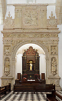 Chapel of Our Lady of the Rosary, built 1649, dedicated to the Virgin of the Rosary, patron saint of the Dominicans, in the Church and Convent of the Dominicans, built 1510, the first catholic building in the New World, in the Colonial Zone of Santo Domingo, capital of the Dominican Republic, in the Caribbean. The vault of the chapel is decorated with the 12 zodiacal signs around the sun and Olympian gods, and is also known as the Zodiac Chapel. The convent became the University Santo Tomas de Aquino in 1538, the first university in the Americas. Santo Domingo's Colonial Zone is listed as a UNESCO World Heritage Site. Picture by Manuel Cohen