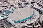 Aerial vew of the LA Convention Center, Los Angeles, CA