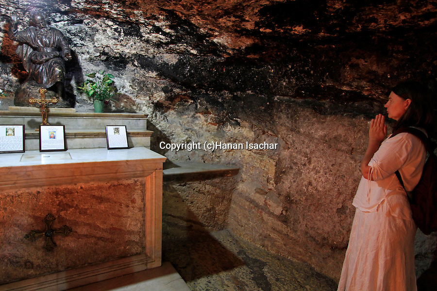 Haifa, The Grotto of Elijah at the Church of the Carmelite Stella Maris Monastery on Mount Carmel
