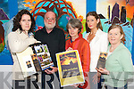 CELEBRATIONS: Checking out the programme for the Feile na Greine Solstice Arts Festival (June) in Waterville on Friday last were members of the organising committee..Front L/r. , Paddy Bushe, Angela O'Sullivan, Louise Huggard. Back L/r. Suzan Walsh and Fiona de Buise,