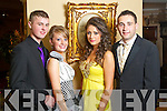 Pictured at the St. Joseph's Secondary School, Abbeyfeale Debs in the Abbeygate Hotel on Thursday, from left: Kallum Semple, Muiriosa Brosnan, Laura Sheeran, Jake Quirke.