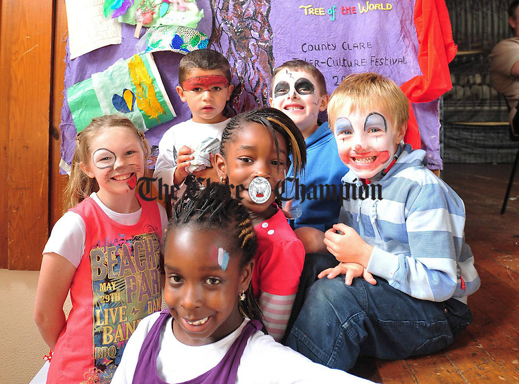 Pupils from schools around Clare enjoying the Intercultural Festival at St Flannans on Saturday. Photograph by Declan Monaghan