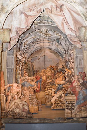 Eroeffnung des Passionsmuseum im Barockkloster Neuzelle in Brandenburg.<br /> Am 20. Maerz 2015 wurde das Museum zur dauerhaften Praesentation der Neuzeller Passionsdarstellungen eroeffnet. Das Museum traegt den Titel &quot;Himmlisches Theater &ndash; Die Neuzeller Passionsdarstellungen vom Heiligen Grab&quot;. Zu sehen sind zwei historische hoelzerne 3D-Buehnenbilder der Szenen Judaskuss und Kreuztragung nach ihrer Restaurierung sowie Reliquien und Funde aus Grabstaetten des Klosters.<br /> 20.3.2015, Neuzelle/Brandenburg<br /> Copyright: Christian-Ditsch.de<br /> [Inhaltsveraendernde Manipulation des Fotos nur nach ausdruecklicher Genehmigung des Fotografen. Vereinbarungen ueber Abtretung von Persoenlichkeitsrechten/Model Release der abgebildeten Person/Personen liegen nicht vor. NO MODEL RELEASE! Nur fuer Redaktionelle Zwecke. Don't publish without copyright Christian-Ditsch.de, Veroeffentlichung nur mit Fotografennennung, sowie gegen Honorar, MwSt. und Beleg. Konto: I N G - D i B a, IBAN DE58500105175400192269, BIC INGDDEFFXXX, Kontakt: post@christian-ditsch.de<br /> Bei der Bearbeitung der Dateiinformationen darf die Urheberkennzeichnung in den EXIF- und  IPTC-Daten nicht entfernt werden, diese sind in digitalen Medien nach &sect;95c UrhG rechtlich geschuetzt. Der Urhebervermerk wird gemaess &sect;13 UrhG verlangt.]
