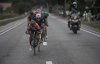 Peter Sagan (SVK/Tinkoff) down in the drop position, speeding down<br /> <br /> 12th Eneco Tour 2016 (UCI World Tour)<br /> Stage 7: Bornem › Geraardsbergen (198km)