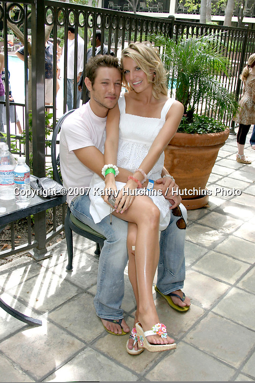 Michael Graziadei & His girlfriend Heather.The Young and the Restless Fan Luncheon.Universal Sheraton Hotel.Los Angeles,  CA.Aug 26, 2007.©2007 Kathy Hutchins / Hutchins Photo....