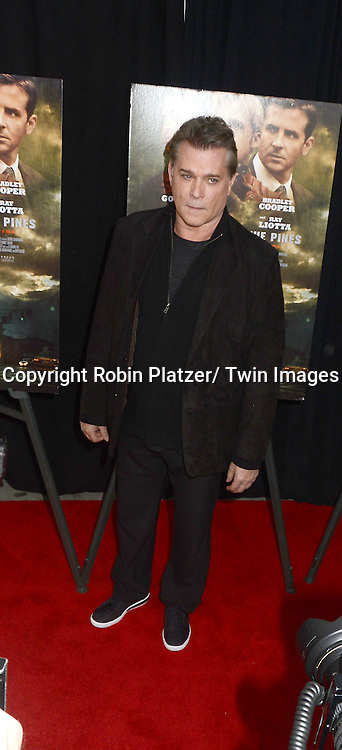 "Ray Liotta attends Focus Features' ""The Place Beyond The Pines""  New York Premiere on March 28, 2013 at The Landmark Sunshine Cinema in New York City."