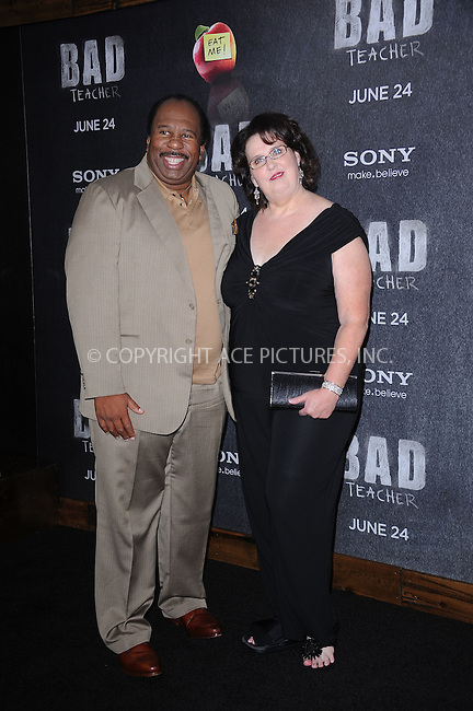 WWW.ACEPIXS.COM . . . . . .June 20, 2011...New York City... Leslie David Baker and Phyllis Smith attend the premiere of 'Bad Teacher' at the Ziegfeld Theatre on June 20, 2011 in New York City.....Please byline: KRISTIN CALLAHAN - ACEPIXS.COM.. . . . . . ..Ace Pictures, Inc: ..tel: (212) 243 8787 or (646) 769 0430..e-mail: info@acepixs.com..web: http://www.acepixs.com .