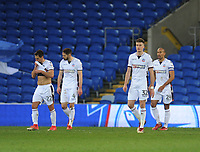 (L-r) Bolton Wanderers' Filipe Morais, Dorian Dervite, Reece Burke and Karl Henry look dejected after Cardiff City's Sean Morrison (not in picture) scores his sides second goal<br /> <br /> Photographer Kevin Barnes/CameraSport<br /> <br /> The EFL Sky Bet Championship - Cardiff City v Bolton Wanderers - Tuesday 13th February 2018 - Cardiff City Stadium - Cardiff<br /> <br /> World Copyright &copy; 2018 CameraSport. All rights reserved. 43 Linden Ave. Countesthorpe. Leicester. England. LE8 5PG - Tel: +44 (0) 116 277 4147 - admin@camerasport.com - www.camerasport.com