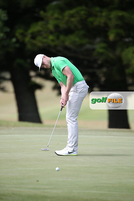 Oliver Fisher (ENG) putts for birdie on the 7th during Round Two of the Africa Open 2015 at the East London Golf Club, East London, Eastern Cape, South Africa. Picture:  David Lloyd / www.golffile.ie. 06/03/2015