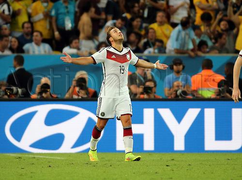 13.07.2014. Rio de Janeiro, Brazil. World Cup Final. Germany versus Argentina. Goetze's celebration after he scored his goal for 1-0