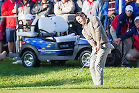 Rory McIlroy (Team Europe) on the 5th during the Saturday morning Foursomes at the Ryder Cup, Hazeltine national Golf Club, Chaska, Minnesota, USA.  01/10/2016<br /> Picture: Golffile | Fran Caffrey<br /> <br /> <br /> All photo usage must carry mandatory copyright credit (&copy; Golffile | Fran Caffrey)