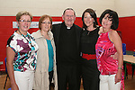 Fr. Martin Kenny with Nora Rafferty, Fiona Kelly, Linda Cruise and Catherine Vaughan at his retirement party in Mell NS...Photo NEWSFILE/Jenny Matthews.(Photo credit should read Jenny Matthews/NEWSFILE)....This Picture has been sent you under the condtions enclosed by:.Newsfile Ltd..The Studio,.Millmount Abbey,.Drogheda,.Co Meath..Ireland..Tel: +353(0)41-9871240.Fax: +353(0)41-9871260.GSM: +353(0)86-2500958.email: pictures@newsfile.ie.www.newsfile.ie.FTP: 193.120.102.198.