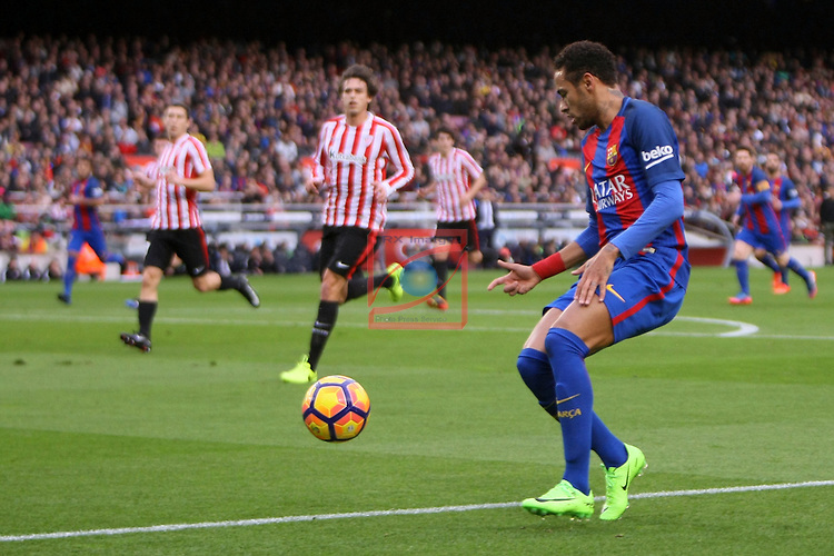 League Santander 2016/2017. Game: 21.<br /> FC Barcelona vs Athletic Club: 3-0.<br /> Neymar Jr.