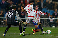 31.01.2013 SPAIN - Copa del Rey 12/13 Matchday 1/4  match played between Atletico de Madrid vs Sevilla Futbol Club (2-1) at Vicente Calderon stadium. The picture show  Adrian Lopez Alvarez (Spanish striker of At. Madrid)