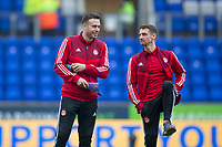 24th November 2019; McDairmid Park, Perth, Perth and Kinross, Scotland; Scottish Premiership Football, St Johnstone versus Aberdeen; Andrew Considine and Craig Bryson of Aberdeen inspect the pitch before the match - Editorial Use
