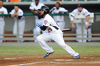 Tennessee Smokies catcher Rafael Lopez #29 swings at a pitch during a game against the Chattanooga Lookouts  at Smokies Park on April 10, 2013 in Kodak, Tennessee. The Lookouts won 6-2. (Tony Farlow/Four Seam Images).