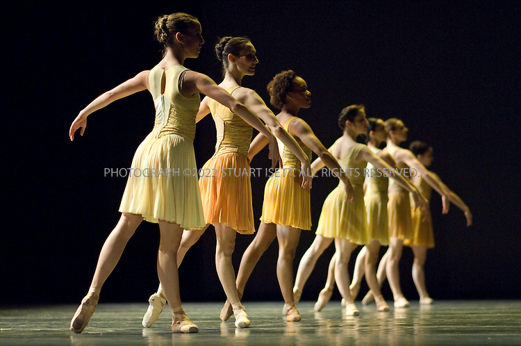 4/18/2007--Seattle, WA, USA..Schubert.Music: Franz Schubert (Piano Trio No. 2 in E flat major, D. 929, Op. 100; last movement omitted).Choreography: John Alleyne.First performance: May 25, 2000; Ballet British Columbia (Vancouver, BC).Performed by guest artists from Ballet British Columbia..Full dress rehearsal at McCaw Hall, Seattle...Photograph ©2007 Stuart Isett.All rights reserved