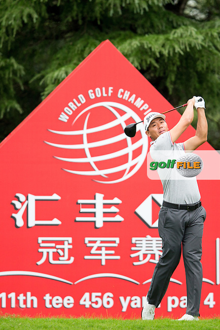 Wu Ashun (CHN) on the 11th during the 1st round of the  WGC-HSBC Champions, Sheshan International GC, Shanghai, China PR.  27/10/2016<br /> Picture: Golffile | Fran Caffrey<br /> <br /> <br /> All photo usage must carry mandatory copyright credit (&copy; Golffile | Fran Caffrey)