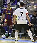 EL FC Barcelona Alusport es clasifica per la final de la Copa del Rei despres de guanyar el partit de tornada de la semifinal 6-1 contra el Azkar Lugo. A la foto Sepe