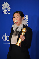 LOS ANGELES, USA. January 05, 2020: Awkwafina in the press room at the 2020 Golden Globe Awards at the Beverly Hilton Hotel.<br /> Picture: Paul Smith/Featureflash