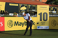 Arjun Atwal (IND) on the 10th tee during Round 1 of the Maybank Championship at the Saujana Golf and Country Club in Kuala Lumpur on Thursday 1st February 2018.<br /> Picture:  Thos Caffrey / www.golffile.ie<br /> <br /> All photo usage must carry mandatory copyright credit (© Golffile | Thos Caffrey)