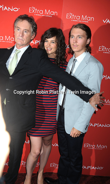 """Kevin Kline, Katie Holmes and Paul Dano, the stars of the movie, and Shari Springer Berman,arriving at The New York Premiere of """" The Extra Man"""" on July 19, 2010 at the Village East Cinema in New York City."""