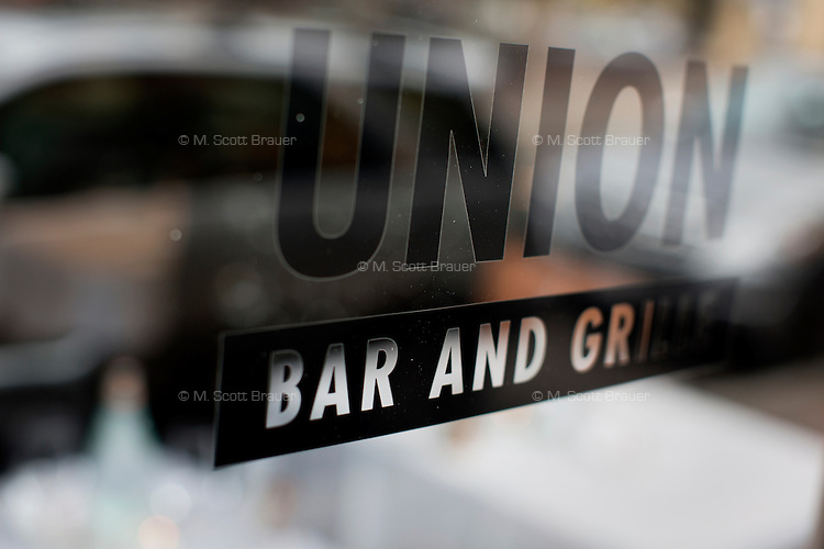 The Union Bar and Grille on Washington in the South End of Boston, Massachusetts, USA.