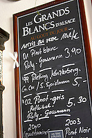 chalk board wistub du sommelier bergheim alsace france
