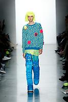 Jeremy Scott<br /> Lea Julian<br /> New York Fashion Week <br /> FW18<br /> <br /> New York Fashion Week,  New York, USA in February 2018.<br /> CAP/GOL<br /> &copy;GOL/Capital Pictures