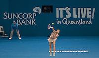 Andrea Petkovic (GER)<br /> <br /> Tennis - Brisbane International 2015 - ATP 250 - WTA -  Queensland Tennis Centre - Brisbane - Queensland - Australia  - 4 January 2015. <br /> &copy; Tennis Photo Network