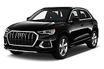 2019 Audi Q3 Premium Plus 5 Door SUV angular front stock photos of front three quarter view