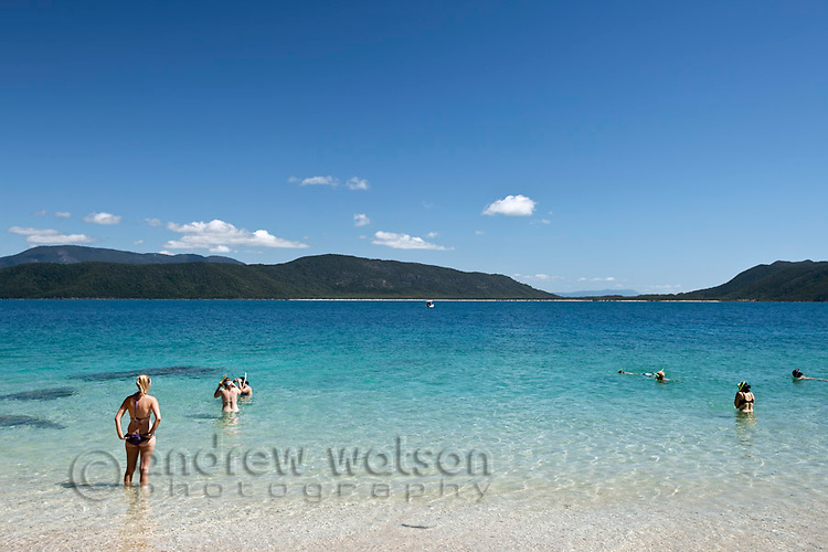 Swimmers at Nudey Beach.  Fitzroy Island National Park, Cairns, Queensland, Austtralia