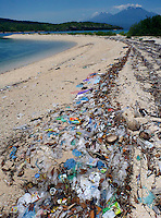 The island of Menjagan island is part of Bali Barat National Park, yet rubbish litter the island many places. The beaches are full of plastic and other rubbish washed up from the ocean.