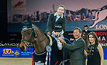 Martin Fuchs of Switzerland riding PSG Future competes at the Hong Kong Jockey Club trophy during the Longines Hong Kong Masters 2015 at the AsiaWorld Expo on 13 February 2015 in Hong Kong, China. Photo by Xaume OIleros / Power Sport Images