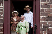 Reenactors at the Prall House, Prallsville Mills, Stockton, New Jersey