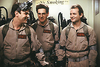 Ghostbusters (1984) <br /> Behind the scenes photo of Dan Aykroyd, Bill Murray &amp; Harold Ramis<br /> *Filmstill - Editorial Use Only*<br /> CAP/KFS<br /> Image supplied by Capital Pictures