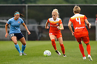 Piscataway, NJ - Saturday July 09, 2016: Erin Simon, Denise O'Sullivan during a regular season National Women's Soccer League (NWSL) match between Sky Blue FC and the Houston Dash at Yurcak Field.