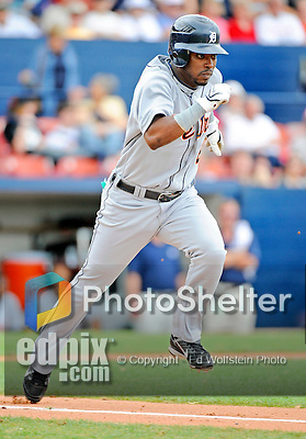 11 March 2008: Detroit Tigers' outfielder Timo Perez in action during a Spring Training game against the Cleveland Indians at Chain of Lakes Park, in Winter Haven Florida. The Tigers rallied to defeat the Indians 4-2 in the Grapefruit League matchup...Mandatory Photo Credit: Ed Wolfstein Photo